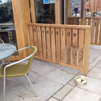 Dogs Welcome at Riverside Cafe