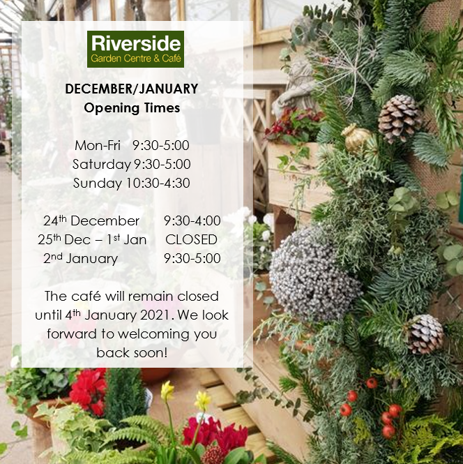December/January Opening Times